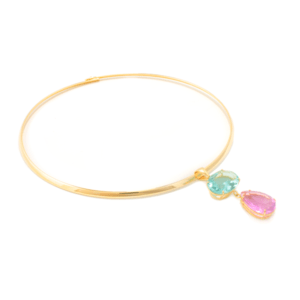 Chocker Ametista Rose de France e Topázio